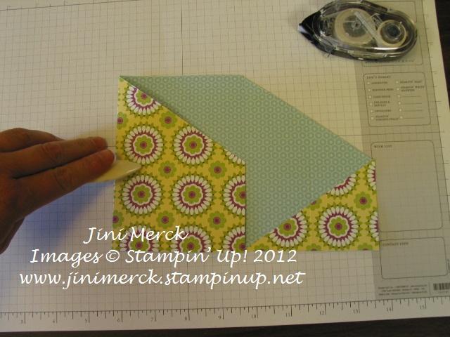 Double Fold card Tutorial step 11