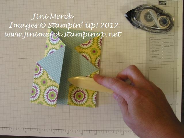 Double Fold Card Tutorial step 13