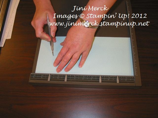 Double Fold Card Tutorial step 2