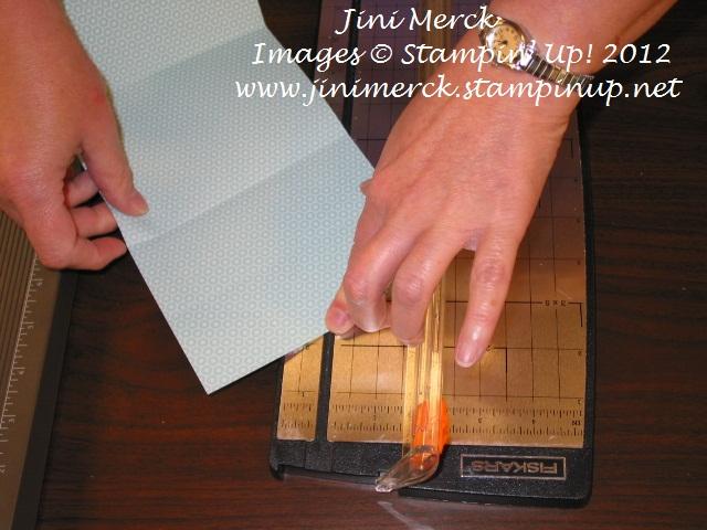 Double Fold Card Tutorial step 4