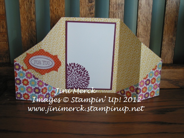 Double Fold Card Tutorial step 15