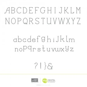 MDS simply serif alphabet download