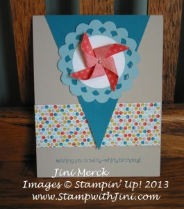 Pinwheel Wishes Card
