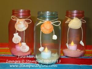Luau Sea Glass Jar