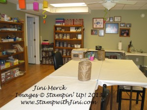 Classroom set up Blue Mountain Stampers Retreat (1)