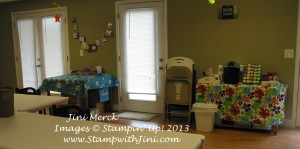 Classroom set up Blue Mountain Stampers Retreat (4)