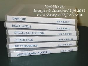 Framelits Organization Printables