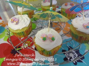 Luau Catalog Launch Flip Flop Cupcakes