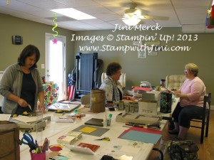 group Blue Mountain Stampers Retreat