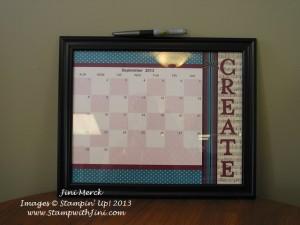 MDS Dry Erase Calendar