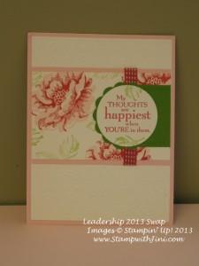 Stippled Blossoms leadership swap 2013
