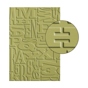 alphabet press embossing folder