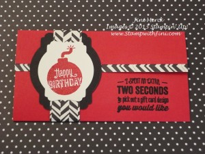 Bombs Away Birthday Gift Card Holder