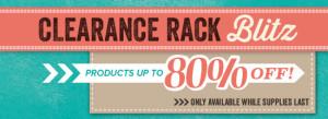 Clearance Rack Blitz banner image