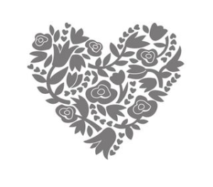 Flowerfull Heart Stamp image