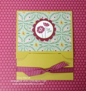 Pop Up Gift Card Holder