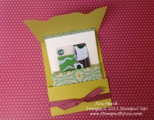 Pop Up Gift Card Holder (giftcard inside pocket)