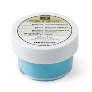 Tempting Turquoise Stampin' Emboss Powder