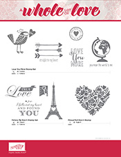 whole lot of love flyer stamp images
