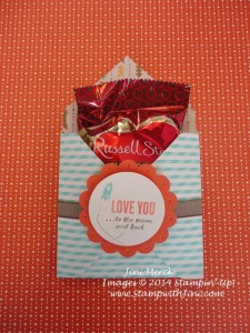 Love You to the Moon Envelope Treat Pouch