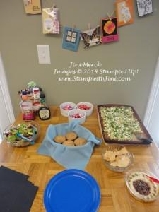 Hostess Appreciation Brunch 2014 food table