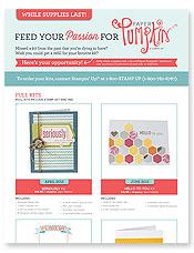 Paper Pumpkin retired kits flyer  image