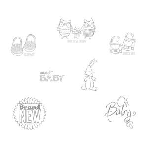 Baby, We've Grown Stamp Brush Set MDS Digital Download