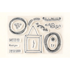 Sweetie Pie Frames Photopolymer stamp set image
