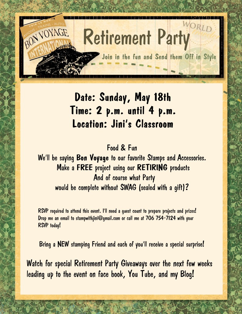 Retirement Party Flyer 2014