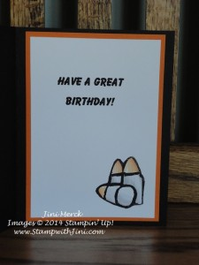 Undefined Johnathans birthday 2014 card inside