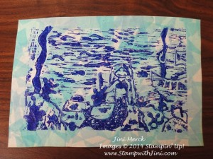 linoleum carving Print  with tissue paper  (2)