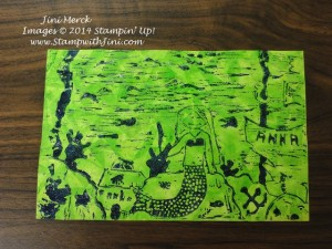 linoleum carving Print  with tissue paper  (3)