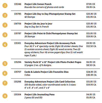 project life prices