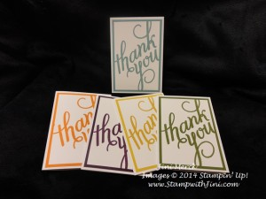 Another Thank You note card set In Color (3)