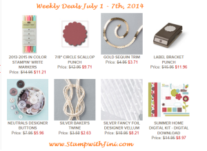 Weekly Deals July 1 2014