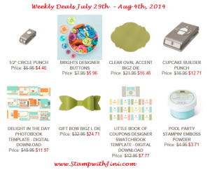 Weekly Deals July 29 2014