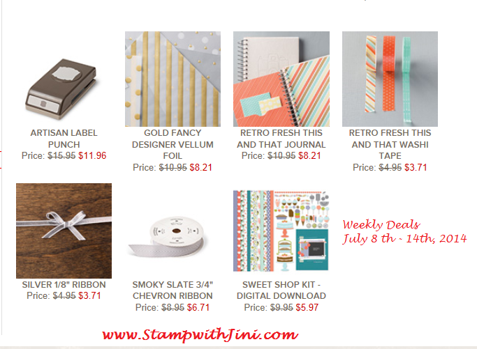 Weeky deals July 8 2014
