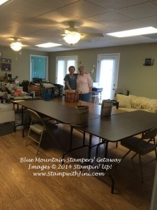 Blue Mountain Stampers Getaway 2014 classroom