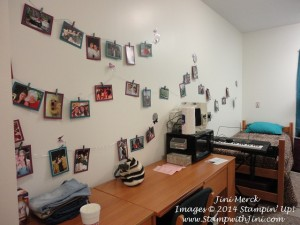 Dorm Room photo wall