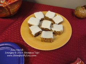 Helen's Pumpkin Bars