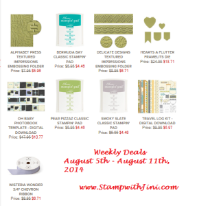 Weekly Deals August 5 2014