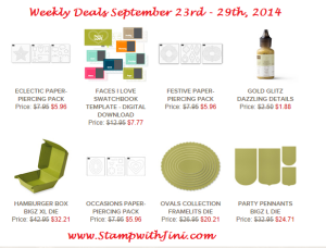 Weekly Deals September 23 2014