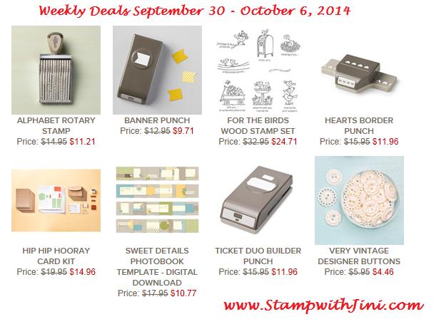 Weekly Deals September 30 2014