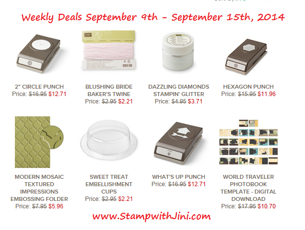 Weekly Deals September 9 2014