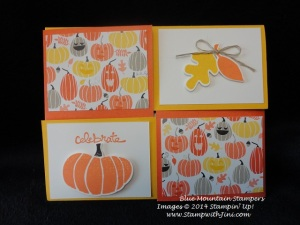 Halloween Quarter Fold Card Blue Mountain Stampers swap Sept 2014 (2)