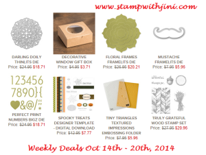Weekly Deal Oct 14 2014 image