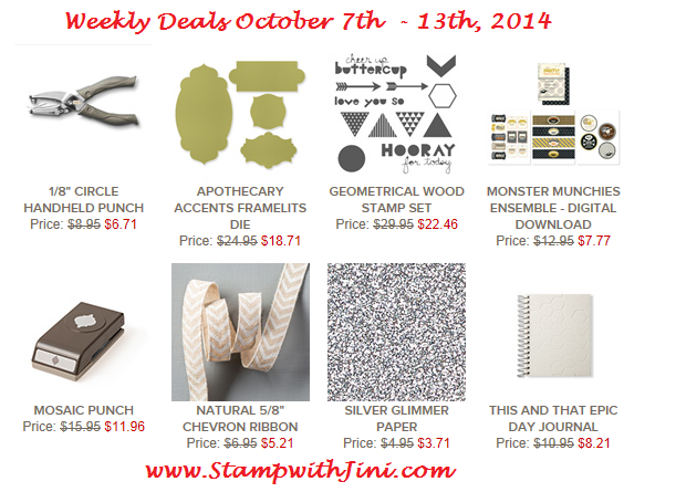 Weekly Deal Oct 7 2014