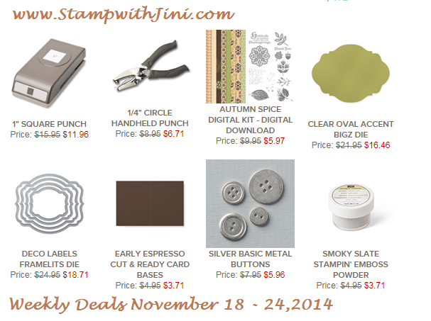 Weekly Deals November 18 2014