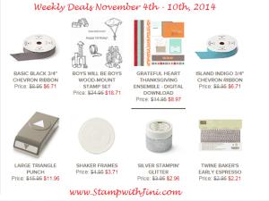 Weekly Deals November 4 2014