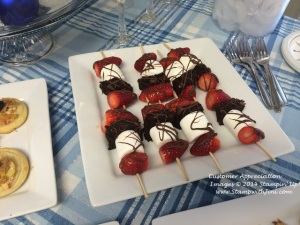 Customer Appreciation Strawberry Brownie Kabobs